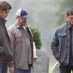 Jared Padalecki and Jensen Ackles shoot Supernatural funeral 77132