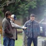 Jared Padalecki and Jensen Ackles shoot Supernatural funeral 77137