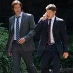 Jared Padalecki and Jensen Ackles shoot Supernatural in suits on a hot day in Vancouver  92680