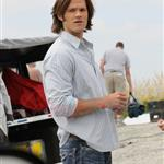 Jared Padalecki on the set of Supernatural 91683