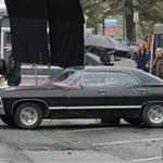 Jensen Ackles and Jared Padalecki shoot Supernatural in Vancouver December 2010 74647