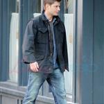 Jared Padaleck and Jensen Ackles work on Supernatural August 2011 91750