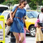 Katie Holmes out in New York with Suri 120240
