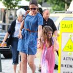 Katie Holmes out in New York with Suri 120246
