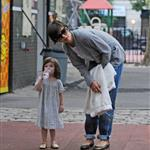 Katie Holmes takes Suri to play in a New York park 23284