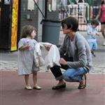 Katie Holmes takes Suri to play in a New York park 23279