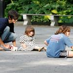 Katie Holmes and overdressed Suri Cruise at the playground  23393