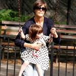 Katie Holmes and overdressed Suri Cruise at the playground  23390