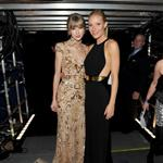 Taylor Swift and Gwyneth Paltrow pose together backstage at the 2012 Grammy Awards 106113