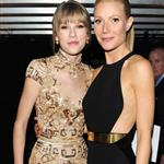Taylor Swift and Gwyneth Paltrow pose together backstage at the 2012 Grammy Awards 106117