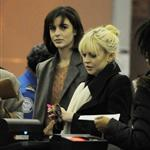 Lindsay Lohan with her sister Ali Lohan catch a flight at JFK airport in NYC 108235