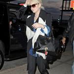 Lindsay Lohan catches a flight at JFK airport in NYC 108242