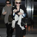 Lindsay Lohan catches a flight at JFK airport in NYC 108243
