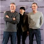 David Fincher, Rooney Mara and Daniel Craig attend The Girl With The Dragon Tattoo photocall at Villamagna Hotel in Madrid, Spain 101696