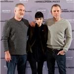 David Fincher, Rooney Mara and Daniel Craig attend The Girl With The Dragon Tattoo photocall at Villamagna Hotel in Madrid, Spain 101698