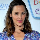 Taupe Jennifer Garner wears curtains to Baby Einstein event 23838