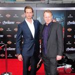 Alexander Skarsgard and Stellan Skarsgard at the world premiere of The Avengers 111215