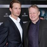 Alexander Skarsgard and Stellan Skarsgard at the world premiere of The Avengers 111217