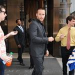 Taylor Kitsch exits his Manhattan Hotel in NYC 114859