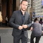 Taylor Kitsch exits his Manhattan Hotel in NYC 114869