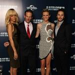 Taylor Kitsch at the Battleship photocall in London with Rihanna, Brooklyn Decker, and Peter Berg 109947