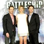 Taylor Kitsch with Peter Berg and Brooklyn Decker at theBattleship photocall held at Villamagna Hotel in Madrid, Spain 110218