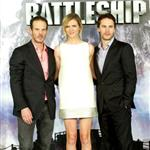 Taylor Kitsch with Peter Berg and Brooklyn Decker at theBattleship photocall held at Villamagna Hotel in Madrid, Spain 110219