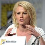 "Rachael Taylor speaks at the ""Charlie's Angels"" Panel during Comic-Con 2011  91966"