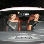 Taylor Lautner takes Taylor Swift out for dinner in his big boy sports car 49617