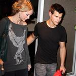Taylor Lautner takes Taylor Swift out for dinner in his big boy sports car 49619