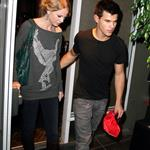 Taylor Lautner takes Taylor Swift out for dinner in his big boy sports car 49623