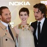 Tom Hardy, Anne Hathaway and Christian Bale at the London premiere if The Dark Knight Rises 121182