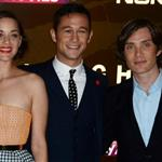 Marion Cotillard, Joeseph Gordon Levitt and Cillian Murphy at the London premiere of The Dark Knight Rises 121197