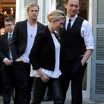 Chris Hemsworth, Scarlett Johansson, Mark Ruffalo and Tom Hiddleston attend 'The Avengers' photocall in Rome 112108