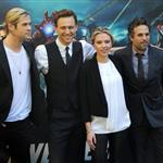 Chris Hemsworth, Scarlett Johansson, Mark Ruffalo and Tom Hiddleston attend 'The Avengers' photocall in Rome 112112