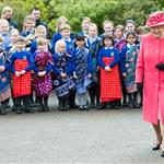 Queen Elizabeth II visits Chester Zoo as part of her tour of the North West in Chester, England 114830