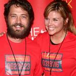 Tiffany at the Nike+ Human Race global grand finale in Los Angeles in August 2008 with Jason Priestly 50226