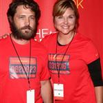 Tiffany at the Nike+ Human Race global grand finale in Los Angeles in August 2008 with Jason Priestly 50228