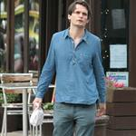 Jonny Greenwood of Radiohead out and about in New York City 116107