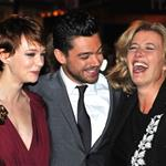 Emma Thompson with Carey Mulligan and Dominic Cooper at the 'An Education' premiere in London 50022