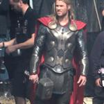 Chris Hemsworth back as Thor on the film set of Thor: The Dark World in England 125760