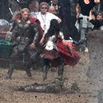 Chris Hemsworth back as Thor on the film set of Thor: The Dark World in England 125765
