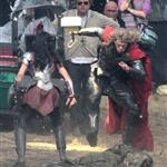 Chris Hemsworth back as Thor on the film set of Thor: The Dark World in England 125767