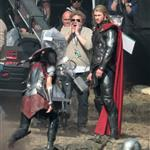 Chris Hemsworth back as Thor on the film set of Thor: The Dark World in England 125769