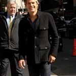 Timothy Olyphant arrives for The Late Show with David Letterman 109923
