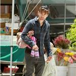 Tobey Maguire with his daughter Ruby May 2011 87470