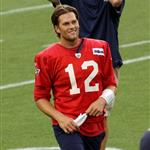 Tom Brady at training camp with the Patriots August 2011 91269
