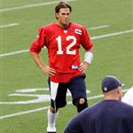 Tom Brady at training camp with the Patriots August 2011 91272
