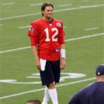 Tom Brady at training camp with the Patriots August 2011 91275