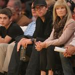 Tom Brady watches the Los Angeles Lakers Vs The Boston Celtics at the Staples Center in Los Angeles, CA 108674